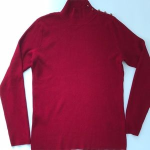 Dress Barn Red Ribbed Sweater